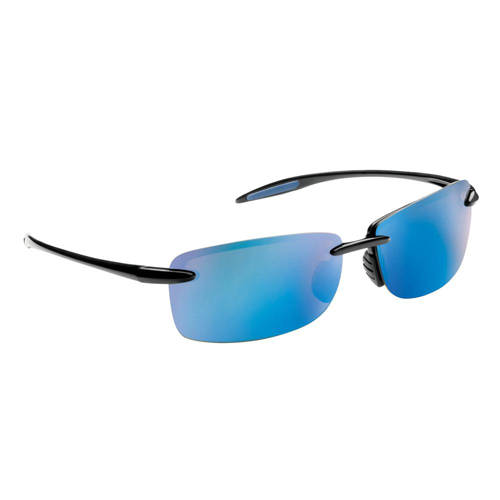 561becf6fc Flying Fisherman. Cali Polarized Sunglasses Black Frame with Smoke Blue  Mirror Lens