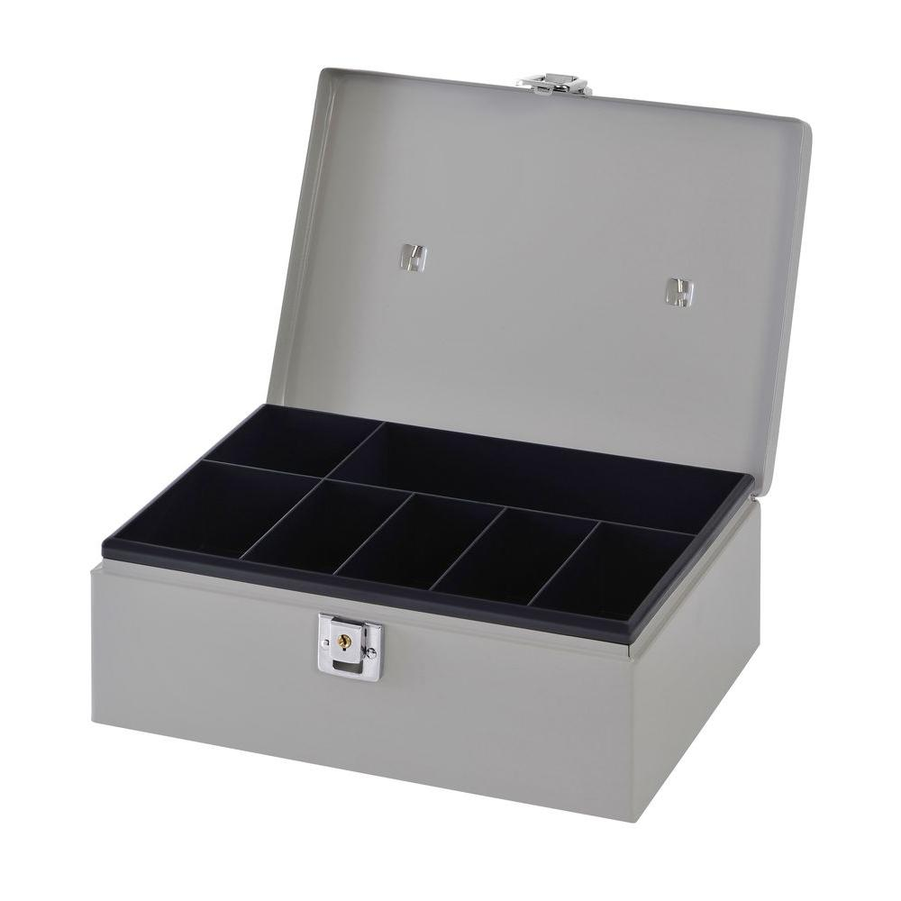 Buddy Products 3/4 cu. ft. Metal Cash Box Safe with Handle