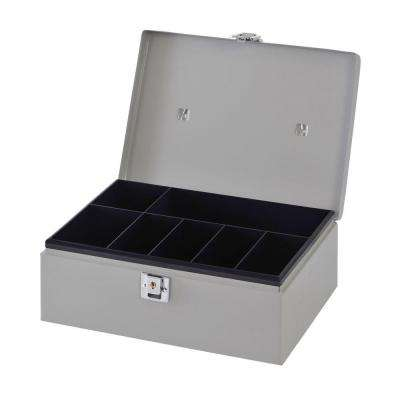 3/4 cu. ft. Metal Cash Box Safe with Handle