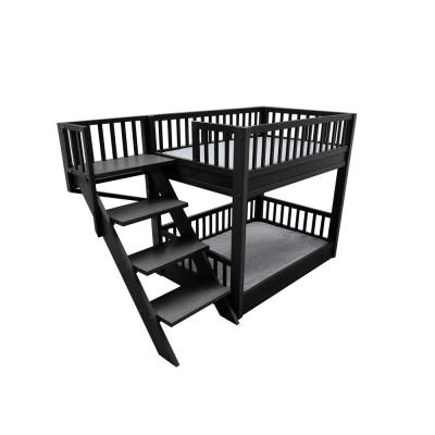 New Age Pet ECOFLEX Standard Size Espresso Dog Bunk Bed with Removable Cushions