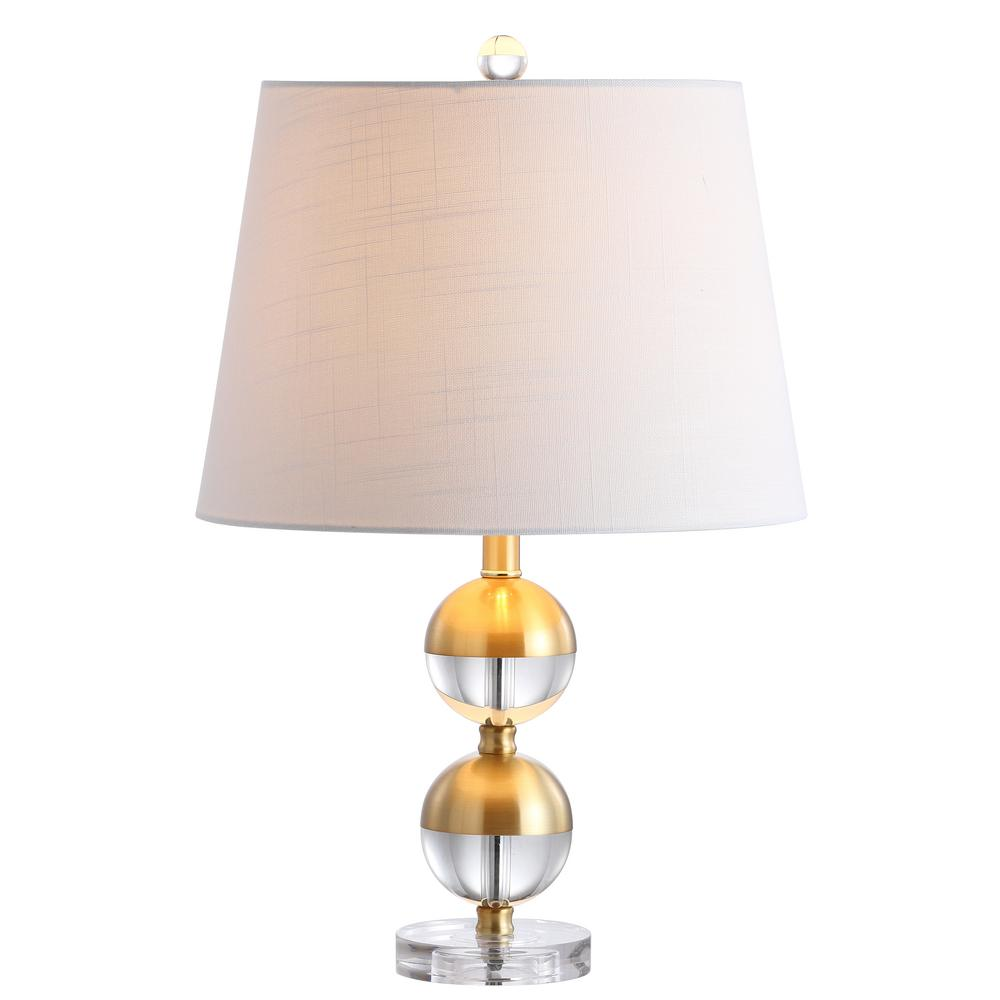 Jonathan Y Jules 23 In H Brass Crystal Mini Table Lamp