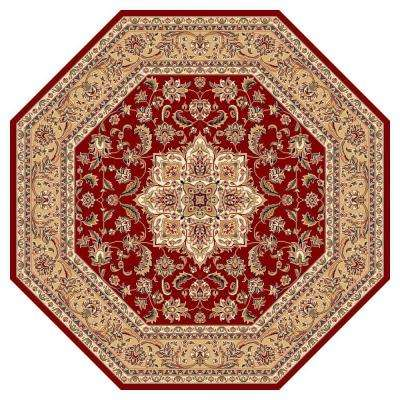 Classic Medallion Red 7 ft. 7 in. x 7 ft. 7 in. Octagon Area Rug