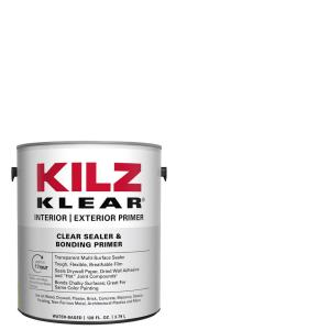 KILZ KLEAR 1 Gal  Clear Interior/Exterior Multi-Surface Primer and  Sealer-L220101 - The Home Depot