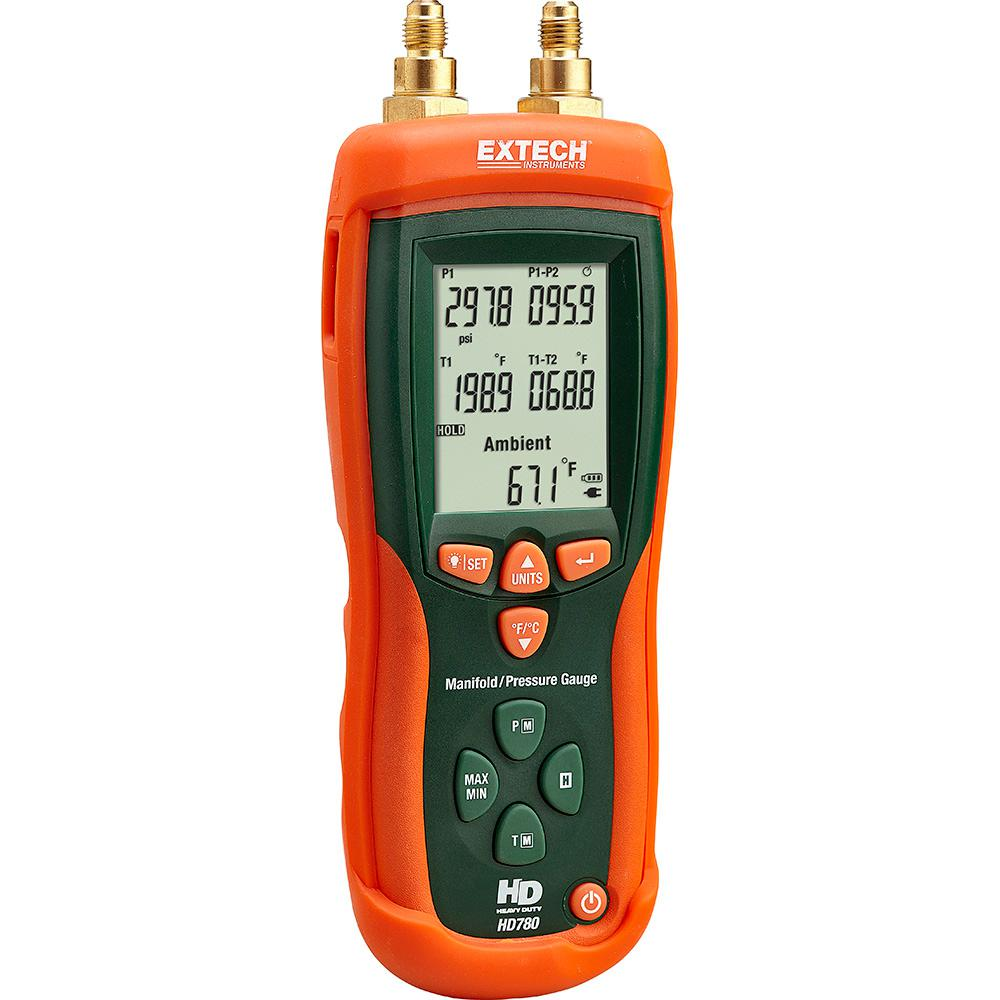 Electrical Wire Gauge Measuring Tool Digital Manifold: Extech Instruments Digital Manifold And Pressure Gauge