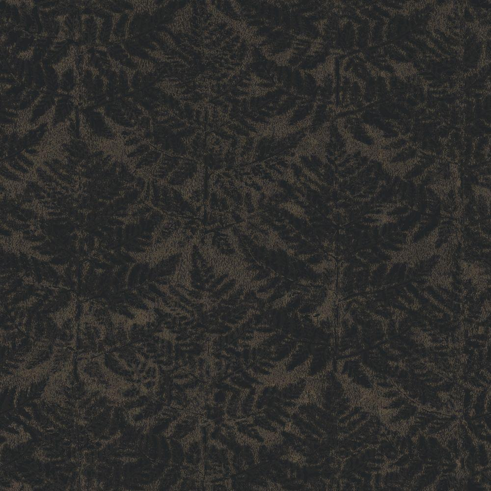 The Wallpaper Company 56 sq. ft. Black Modern Fern Repeat Creating a Textured Background Wallpaper