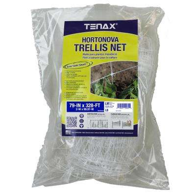 79 in. x 328 ft. White Hortonova Plant Trellis Net