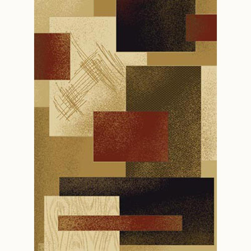 United Weavers Contempo Rust 5 ft. 3 in. x 7 ft. 2 in. Contemporary Area Rug
