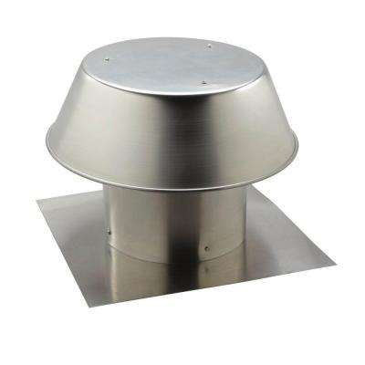 Aluminum Flat Roof Cap for 12 in. Round Duct