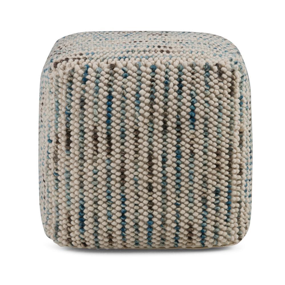 Zoey Multi Color Cube Pouf