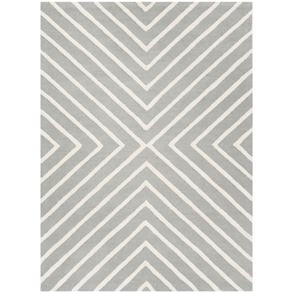 Kids Gray/Ivory 5 ft. x 7 ft. Area Rug