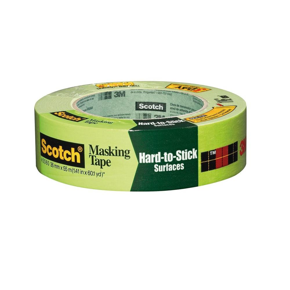 3m scotch in x 60 1 yds masking tape for hard to. Black Bedroom Furniture Sets. Home Design Ideas