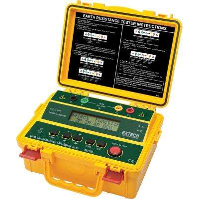 4-Wire Earth Ground Resistance and Resistivity Tester