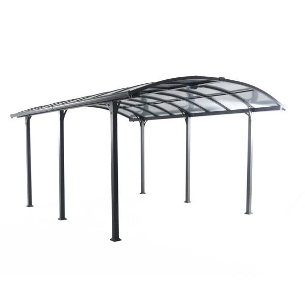 12 ft. W x 16 ft. D x 8 ft. H Steel and Aluminum Carport with Light Bar