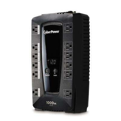1000 VA 12-Outlet UPS Battery Backup with LCD