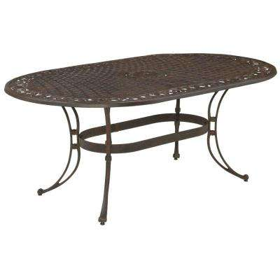 Biscayne 72 in. x 42 in. Bronze Oval Patio Dining Table