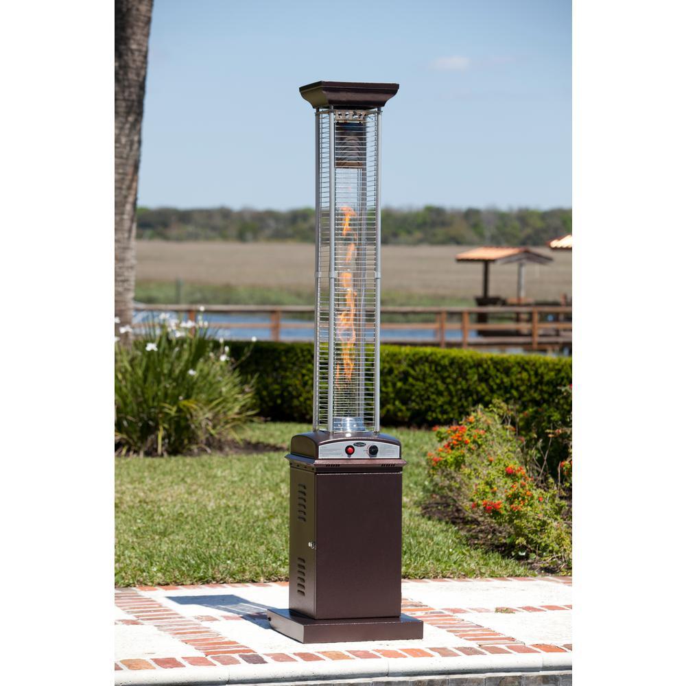 46,000 BTU Hammered Bronze Gas Patio Heater
