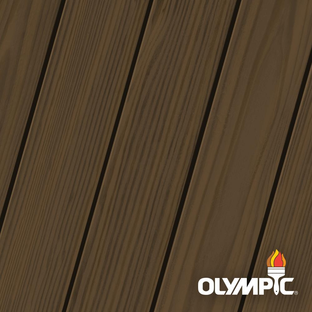 Olympic Elite 1 Gal. American Chestnut Semi-Transparent Stain and Sealant in One Low VOC
