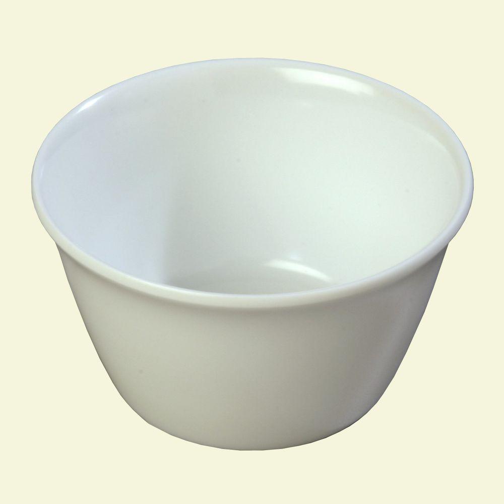 8 oz. 3.84 in. Diameter White Melamine Bouillon Cup (Case of 24)