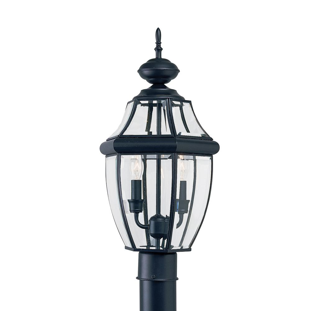 Outdoor Post Light Bulbs: Sea Gull Lighting Lancaster 2-Light Outdoor Black Post