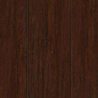 Hand Scraped Strand Woven Hazelnut 3/8 in. T x 2-3/8 in. Wide x 36 in. Length Solid Bamboo Flooring (28.5 sq. ft. /case)