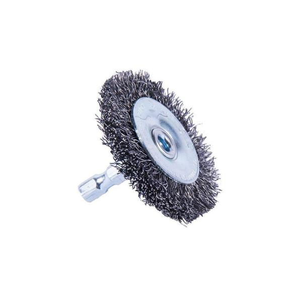 """2/"""" Crimped Stainless Steel Wire Wheel Brush with 1//4/"""" Shank 10 Pack"""