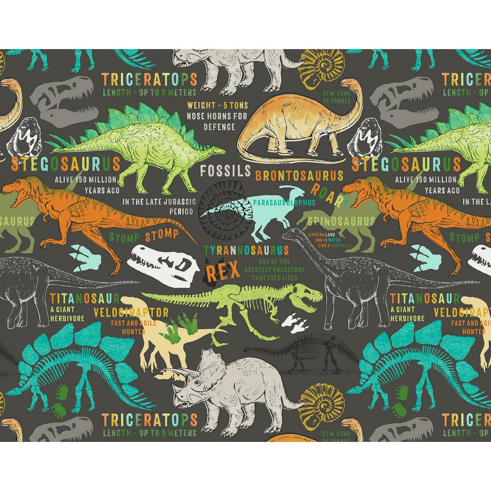 Brown Dinosaurs Wall Applique WR50587 The Home Depot