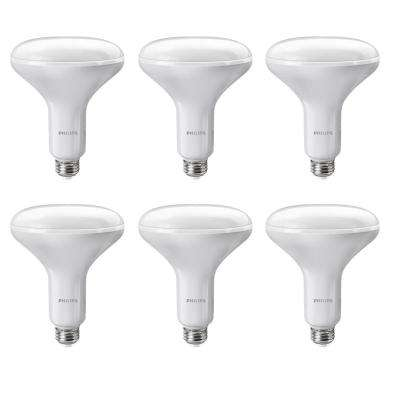 65-Watt Equivalent BR40 Dimmable LED Soft White with Warm Glow Light Effect (6-Pack)