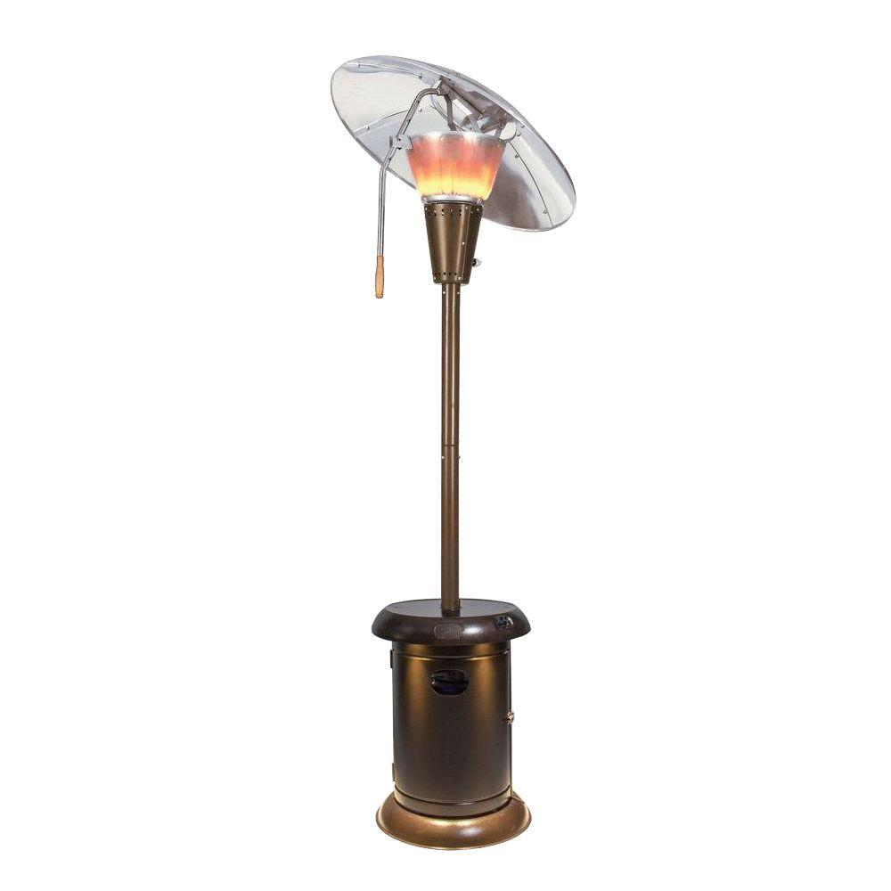 Delightful Mirage 38,200 BTU Heat Focus Gas Patio Heater With Speaker And Light