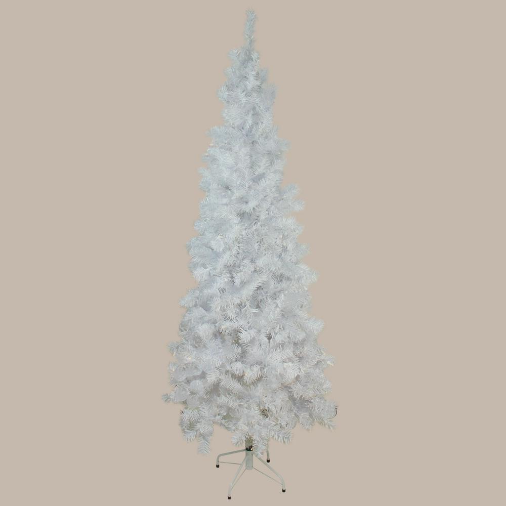 Northlight 7.5 ft. x 36 in. Unlit White Winston Pine ...