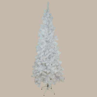 7.5 ft. x 36 in. Unlit White Winston Pine Pencil Artificial Christmas Tree