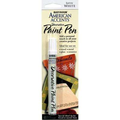 Satin White Decorative Paint Pen (6-Pack)