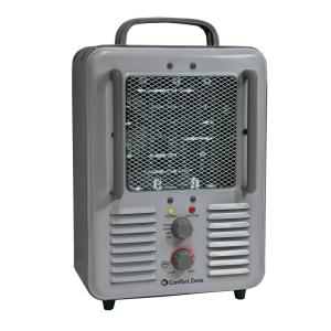 1,500-Watt Milk house Style Fan Electric Portable Heater - Gray