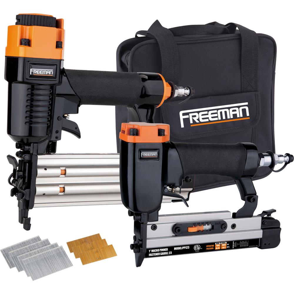 Freeman Pneumatic Professional Woodworker Special with Nails (4-Piece)