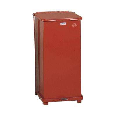 Defenders 24 Gal. Red Steel Step-On Trash Can