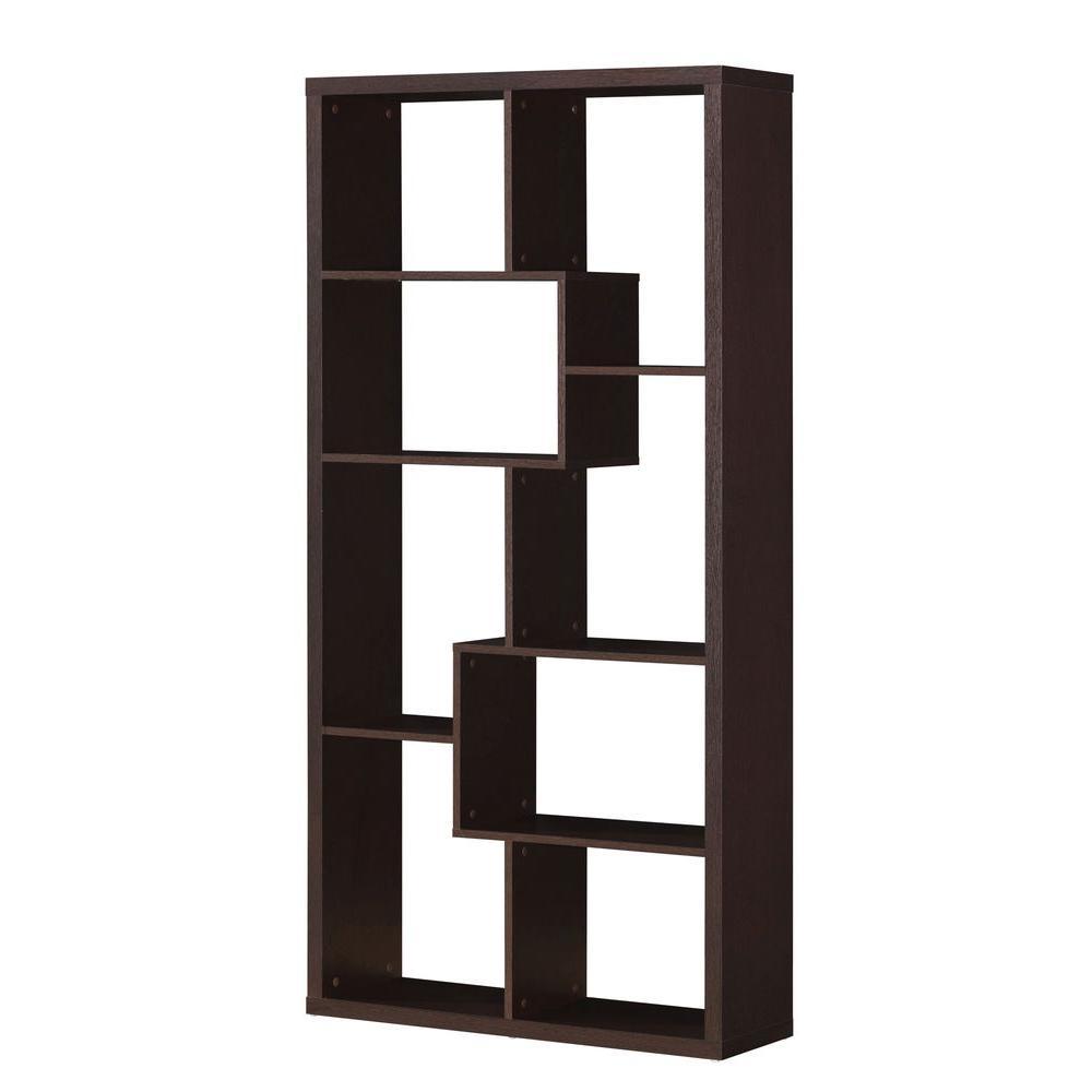 Mileta Cappuccino Open Bookcase