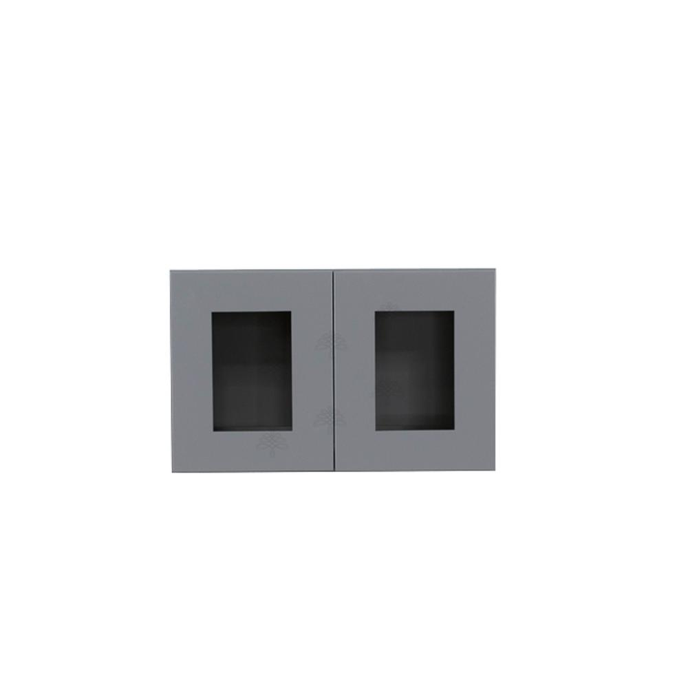 Lifeart Cabinetry Shaker Assembled 30x18x12 In Wall Mullion Door
