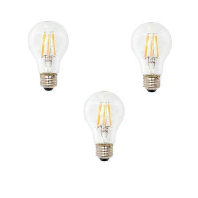 60 Watt Equivalent A19 General Purpose Dimmable Clear Glass Filament LED Light Bulb Soft White