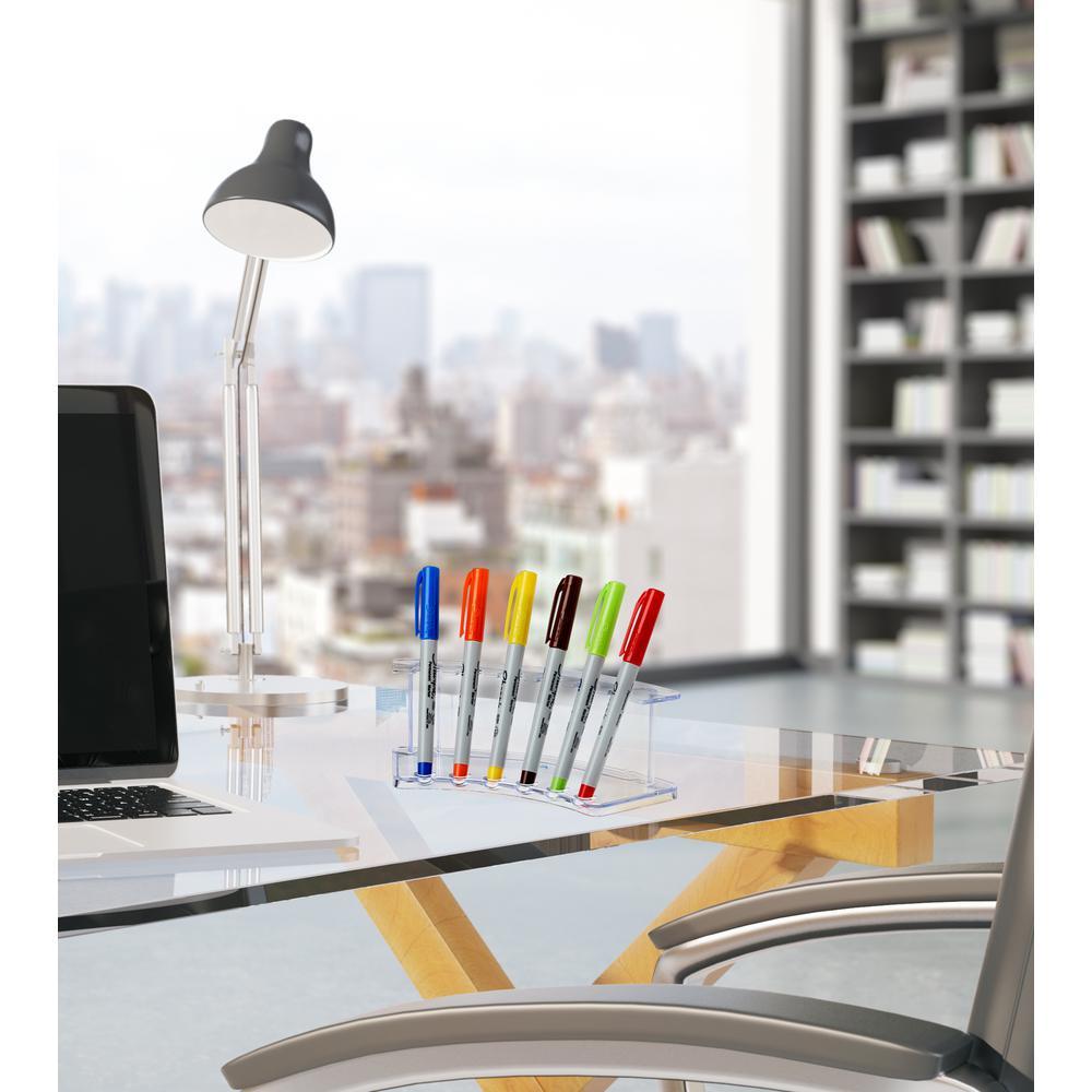 Acrylic 6-Pen Vertical Premium Pen Display Stand (2-Pack)