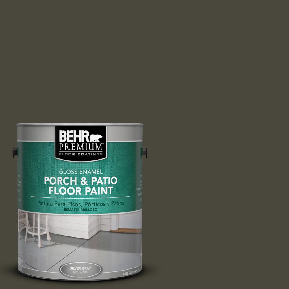 1 gal. #PPU24-01 Black Mocha Gloss Porch and Patio Floor Paint