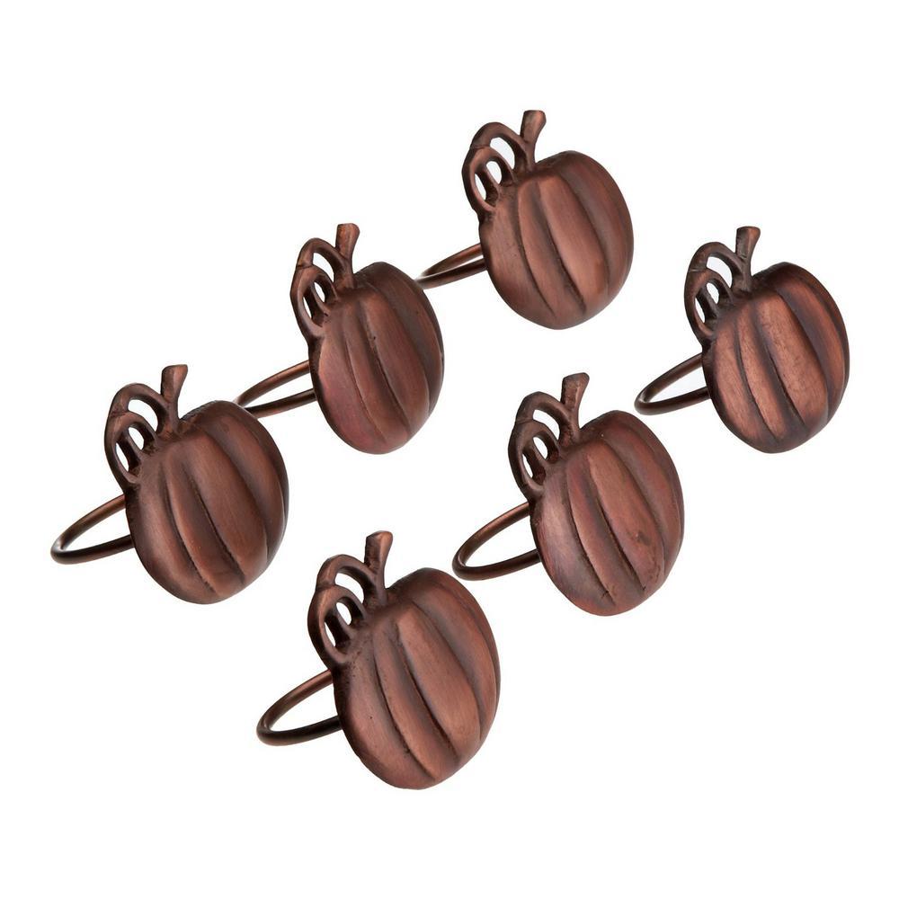 DII Harvest Copper Pumpkin Napkin Ring (Set of 6) CAMZ30168