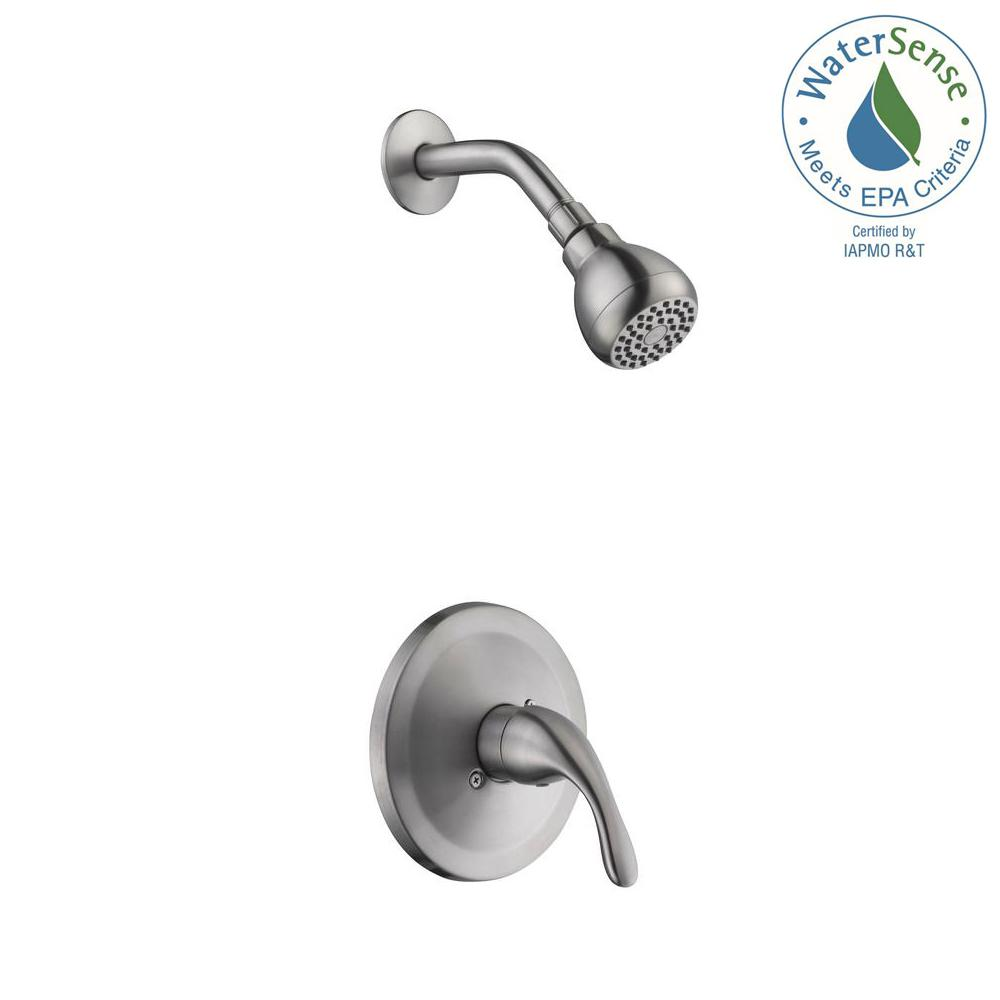 Glacier Bay Builders Single-Handle 1-Spray Pressure Balance Shower Faucet in Brushed Nickel (Valve Included)
