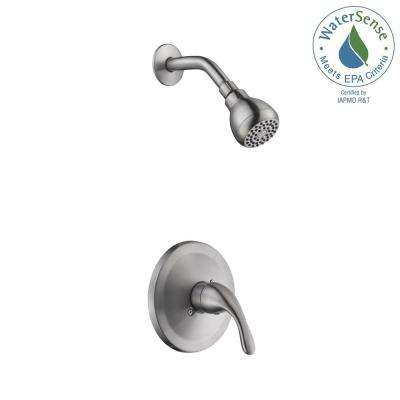 Builders Single Handle 1 Spray Pressure Balance Shower Faucet In Brushed  Nickel (Valve