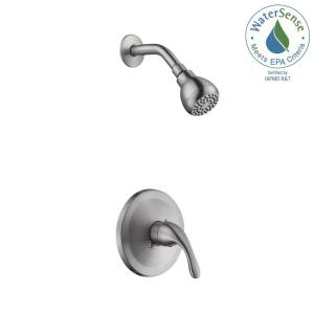 Glacier Bay Builders Single-Handle 1-Spray Pressure Balance Shower Faucet in Brushed Nickel (Valve Included) by Glacier Bay