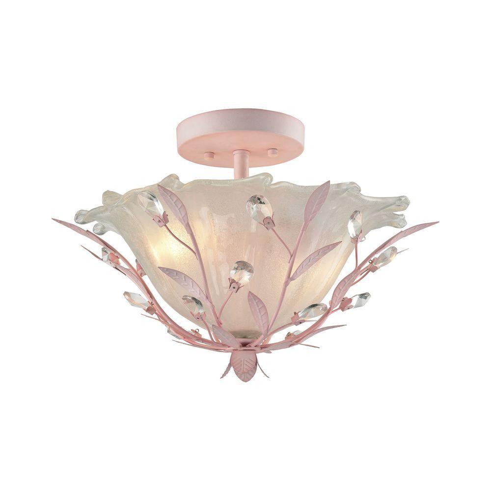 Circeo 2-Light Pink Semi Flush Mount