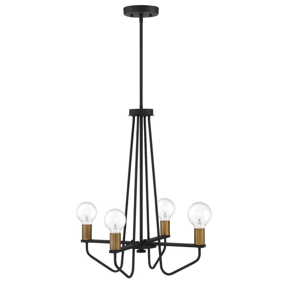 Ravella 4-Light Black Interior Chandelier