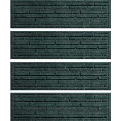 Evergreen 8.5 in. x 30 in. Broken Brick Stair Tread Cover (Set of 4)