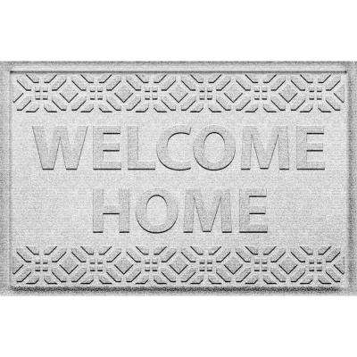Welcome Home White 24 in. x 36 in. Polypropylene Door Mat