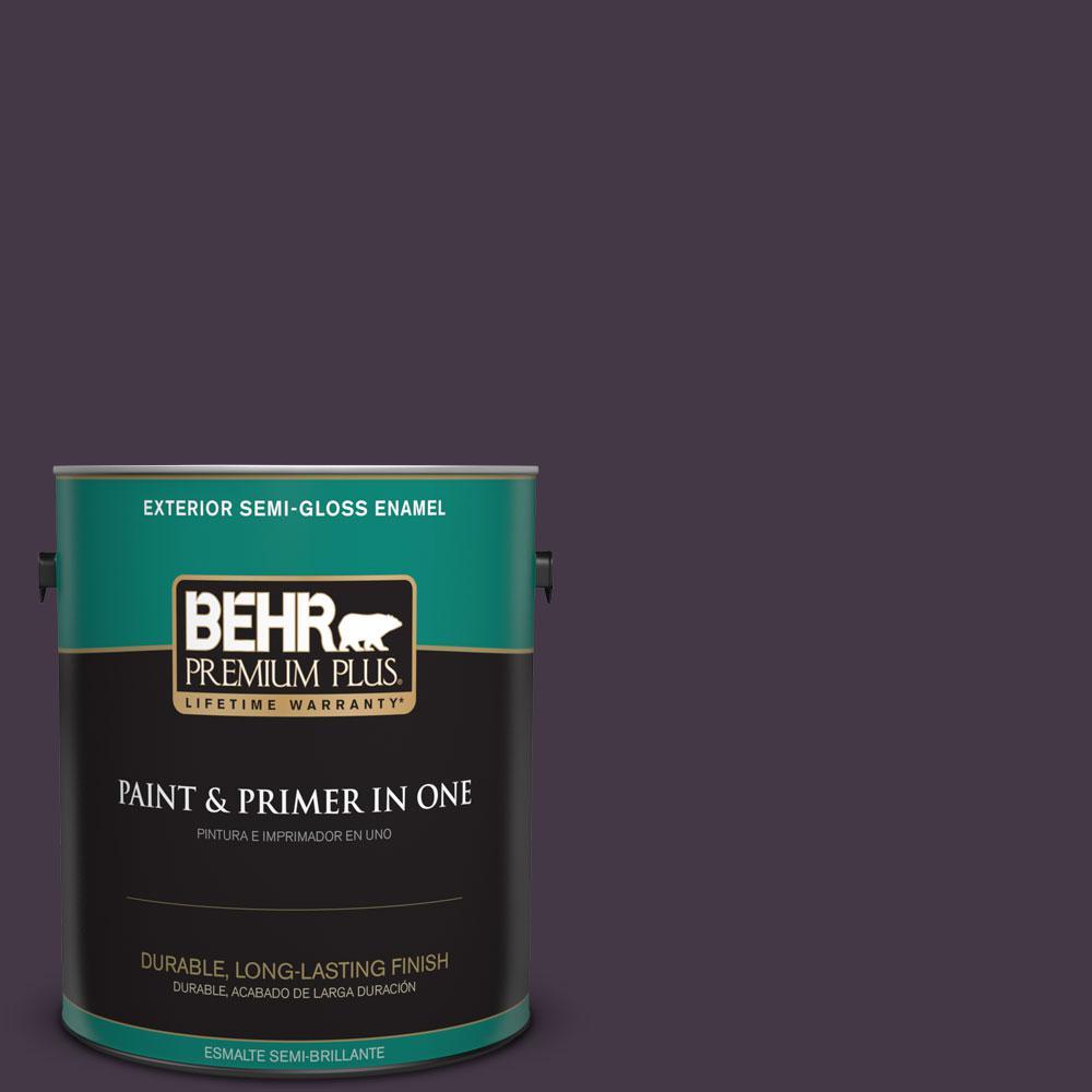 1-gal. #ECC-17-3 Napa Harvest Semi-Gloss Enamel Exterior Paint