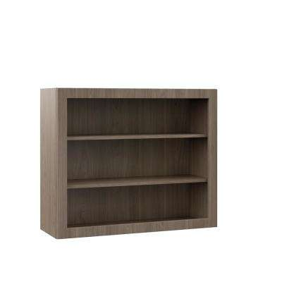 Edgeley Assembled 36x30x12 in. Wall Open Shelf Kitchen Cabinet in Driftwood