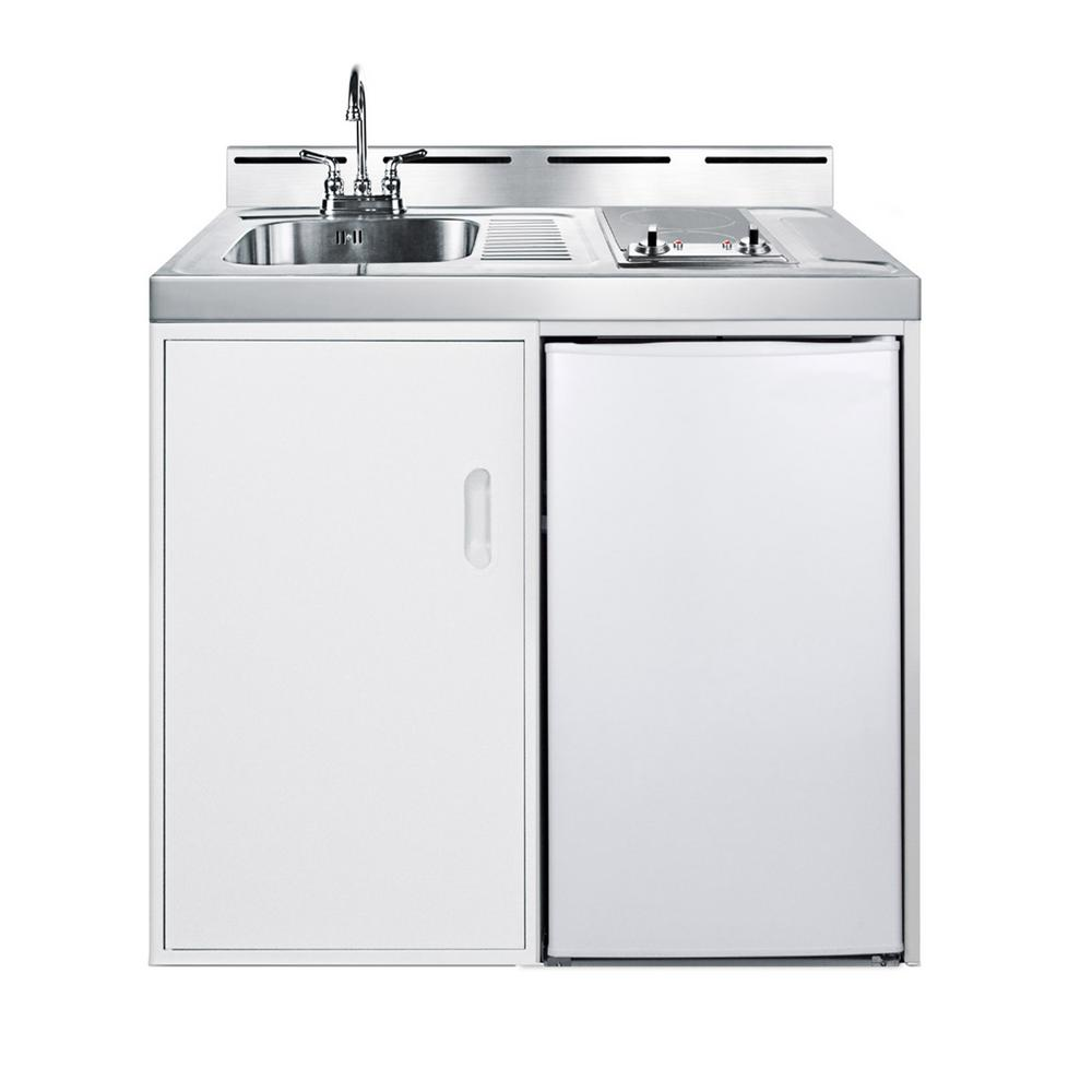 Compact Kitchen Appliances: Summit Appliance 39 In. Compact Kitchen In White